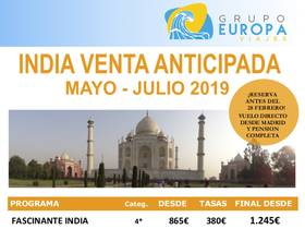 INDIA VENTA ANTICIPADA